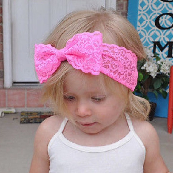 Baby 6M-4T Lace Bow Headband ALL 7 COLORS FOR  15! 5cae061137f